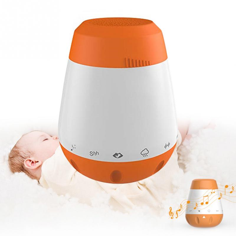 Rechargeable Voice Sensor Baby White Noise Sleep Soother Therapy Sound Machine Portable Smart Music Infants