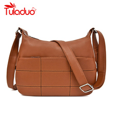 купить 2019 Women Messenger Bags Small Leather Shoulder Bag Female Sac A Main Vintage Bags For Girls Hobos Vintage Crossbody Bag New по цене 1096.16 рублей