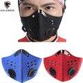 Carbón activado pm2.5 máscaras anti-polvo viento cálido máscara media mascarilla para el entrenamiento al aire libre bicicleta ciclismo motocicleta 3 colores