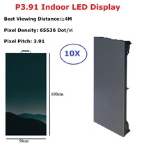 50X150CM LED Display Panel P3.91 Indoor Rental Led Screen TV Pantalla Advertising Video Wall For Concert