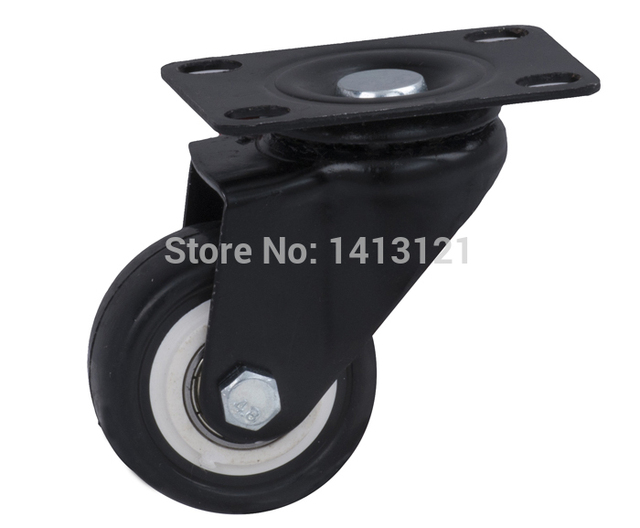 free shpping 50mm caster Universal Flat Top wheel furniture hardware caster PU mute caster Handling Equipment part Ball bearing