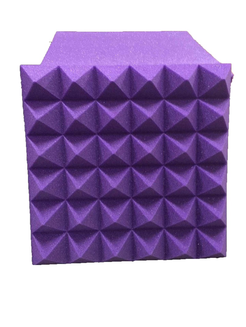 Acoustic Panels Home Theater 30cm X 30cm Purple Sound Insulation