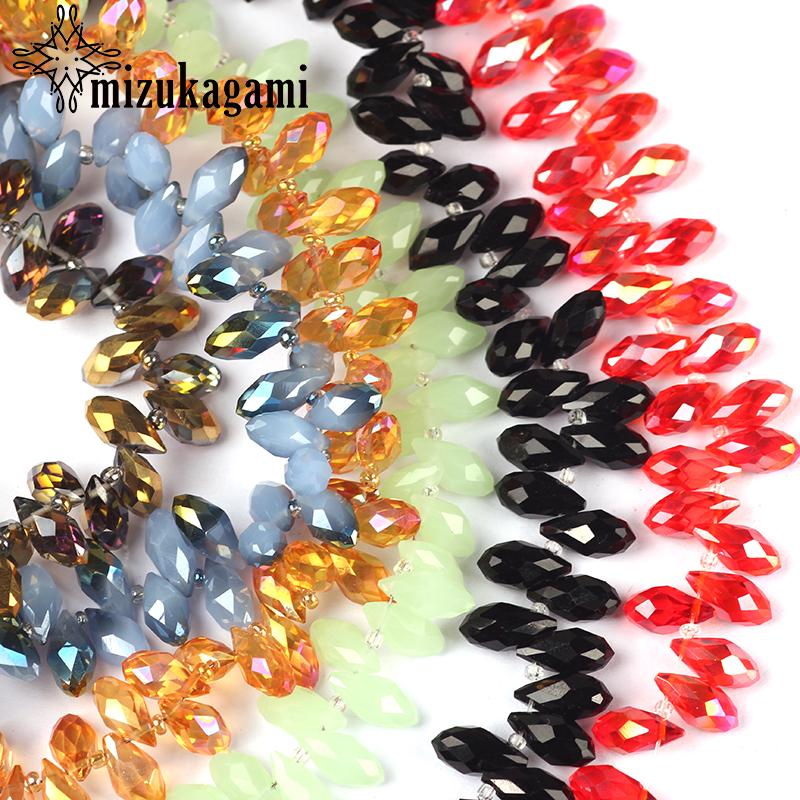 97 шт/лот 6*12 мм стеклянные хрустальные бусины в форме капли
