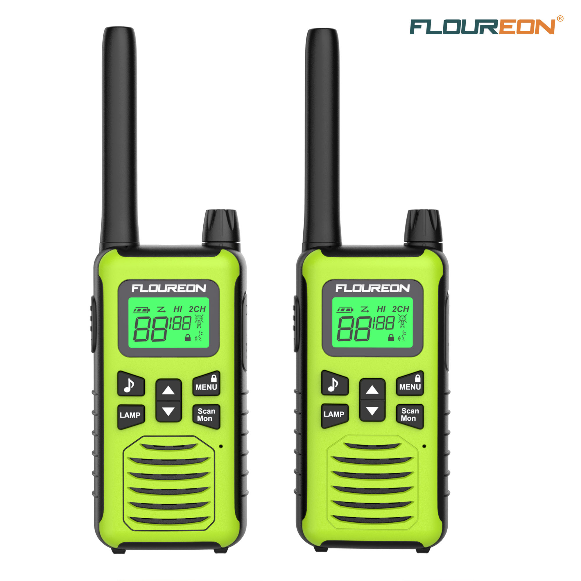 2x 22 Channel Walkie Talkie 2-Way Radio Handheld Interphone Long Range Up to 5km