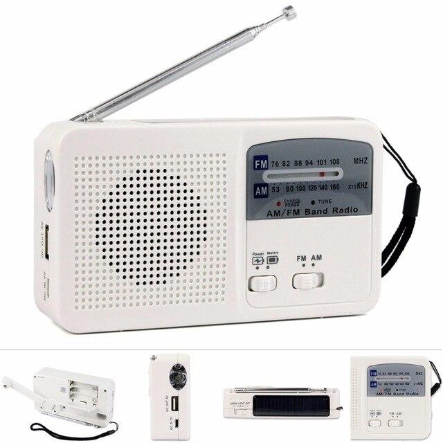 Горячая продажа! белый FM/AM Радио Солнечная Фонарик + Адреналин Питания + Чрезвычайных Зарядное Устройство DC 5 В 500mA Радио FM Y4346B
