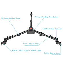Tripod Base Stand With Wheels