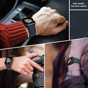Image 4 - MAIKES רצועת השעון כחול החלפה עבור אפל שעון להקת 44mm 40mm 42mm 38mm סדרת 4/3/2/1 iWatch צמיד אפל שעון רצועה