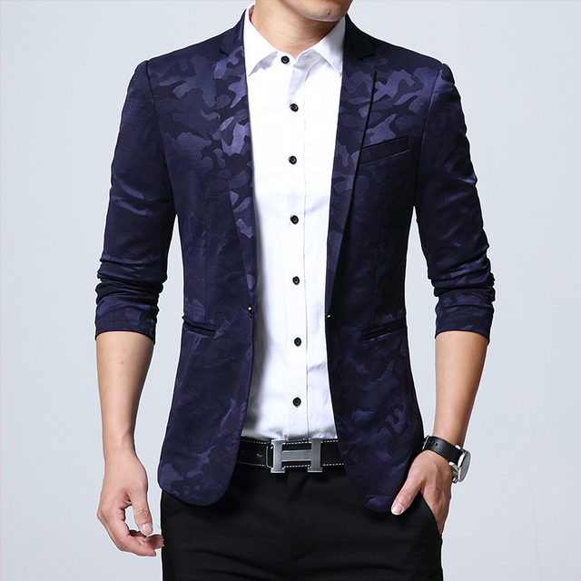 2018 Mode Manner Anzug Glanzende Muster Luxus Casual Manner
