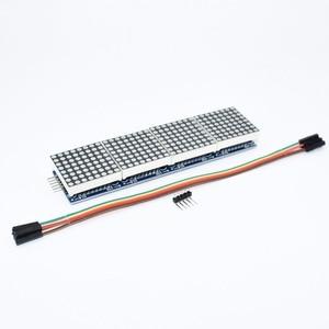 Image 2 - 10 sztuk MAX7219 moduł macierzy punktowej mikrokontroler 4 w jednym wyświetlaczu z linią 5P 4 w 1