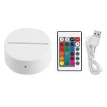 3D LED Lamp Base Touch Button Night Light Base + USB Cable + Remote Control For Home Cafe Decor