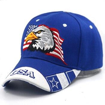 2018 unisex EE. UU. Bandera águila 3D bordado gorra de béisbol de moda  Snapback Gorras cheapu sombreros adustable gorra Casual de Gorras papá  sombreros b882fc8ee380