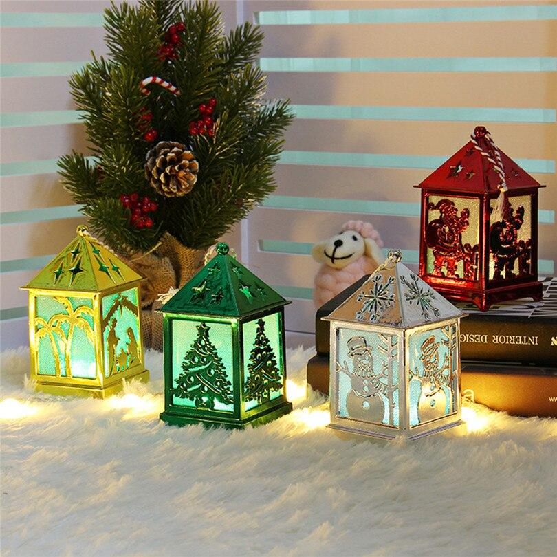 Christmas Decorations For Home LED Light Dolls House Villa Xmas Ornaments Hanging Christmas Tree Hanging Decor Navidad 40DC602