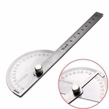 1pc 180 Grad Einstellbar Winkelmesser Winkel Finder Winkel Lineal Runde Kopf Dreh Edelstahl Mess Werkzeug für Holzbearbeitung