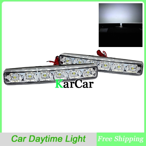 6 LED <font><b>E4</b></font> DRL LED Car Daytime Running Light,Auto <font><b>Lamp</b></font> <font><b>12V</b></font> Universal Waterproof Head Light Superb White Free Shipping image