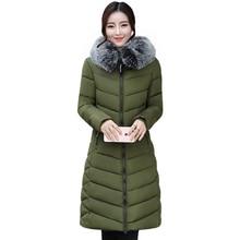 Фотография New 2017 Russia Style Fashion Winter Parka Women Large Fur Collar Coat Ladies Long Clothing Thickening Warm Winter Jacket Ladies