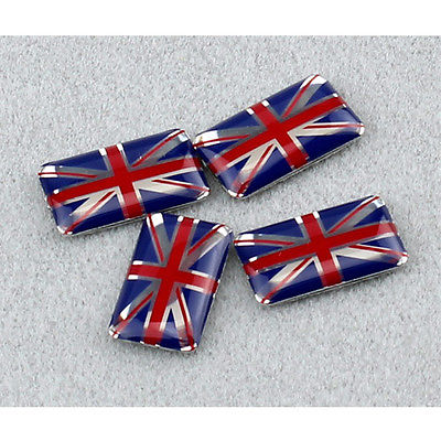 3d uk flag emblem sticker union jack decal 4pcs