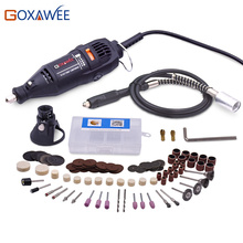 GOXAWEE 220V Electric Drill Power tools Mini Rotary Drill For Dremel Tools with 100pcs Rotary Tools Accessories Mini Grinder