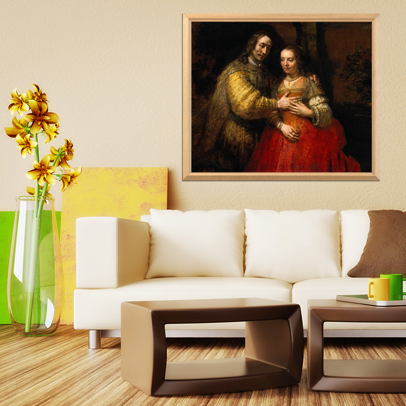 Rembrandt Famous Painting quot The Jewish Bride quot 5D DIY Diamond Painting Full Square Diamond Embroidery Rhinestone Mosaic Picture in Diamond Painting Cross Stitch from Home amp Garden