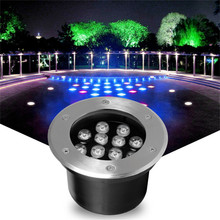 LED Underground RGB Light Waterproof 6W 12W 15W Ground Garden Path Outdoor Buried Yard Lamp Landscape