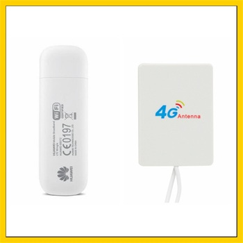 E8372 E8372h-153 150 Мбит/с 4G LTE Wifi модем + 28DBI 4G усилитель Сигнала  Антенна двойной разъем TS9