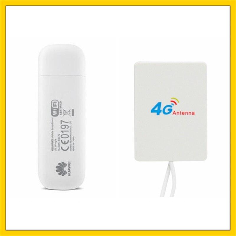 E8372 E8372h-153 150 Mbps 4G LTE Wifi Modem + 28DBI 4G Signal amplificateur antenne double connecteur TS9