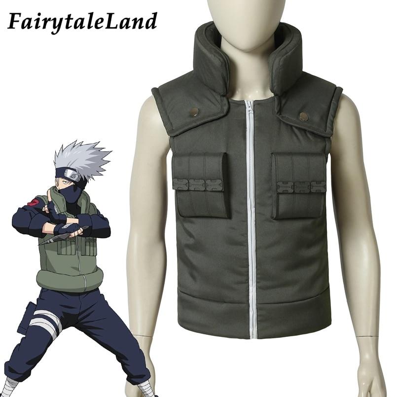 Hatake Kakashi Vest Cosplay Halloween Suit Custom Made Hot Anime Naruto Costume Hatake Kakashi Jacket
