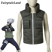 Hatake Kakashi Vest Cosplay Halloween Suit Custom Made Hot Anime Naruto Costume Hatake Kakashi Jacket