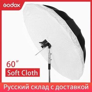 """Image 1 - 60 /150 cm Studio Photogrphy couvercle de diffuseur de parapluie pour Godox 60"""" 150 cm blanc noir parapluie réfléchissant (couvercle de diffuseur seulement)"""