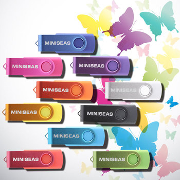 Miniseas Usb Flash Drive Real Capacity Colorful Rotate Key 8G/16G/32G/64G Memory USB Stick Pen Drive Pendrive For PC