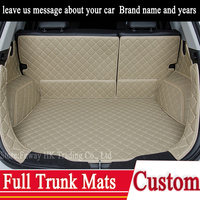 Custom Full Trunk 3D Mats Leather Pad For BMW 3 4 5 7 Series GT M3