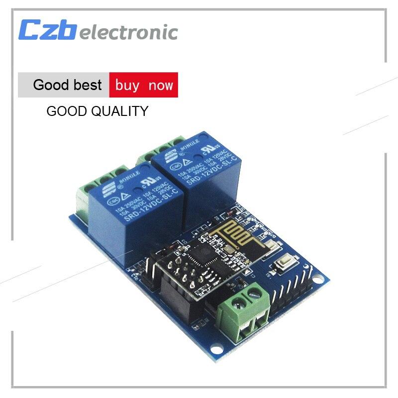 ESP8266 ESP-01S ESP01S 5/12V 2 Channel WiFi Relay Module ESP-01 Relay Module Things Smart Home Remote Control Switch Phone APP