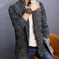 Slim Fit Masculino Cardigan Men Sweaters Knitted Coarse Wool Crocheted Cardigans 2017 Srping New Fashion Sweater Pull Homme XXL