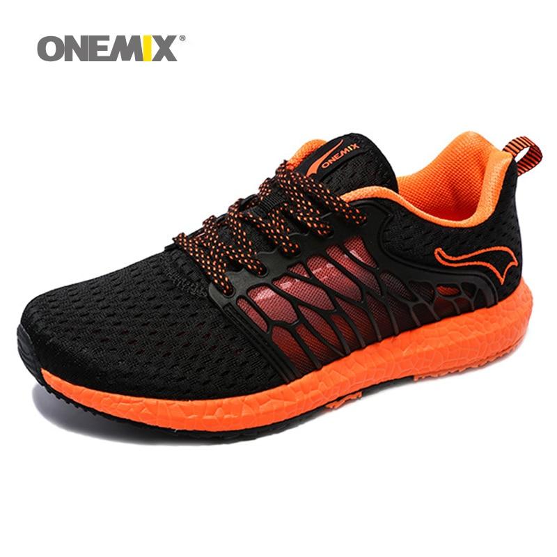 לנשום onemix נעלי ריצה לגברים קיץ קל משקל חופשי נעלי נוחות נעלי ספורט אוהבי ספורט נעלי הליכה רוש לרוץ
