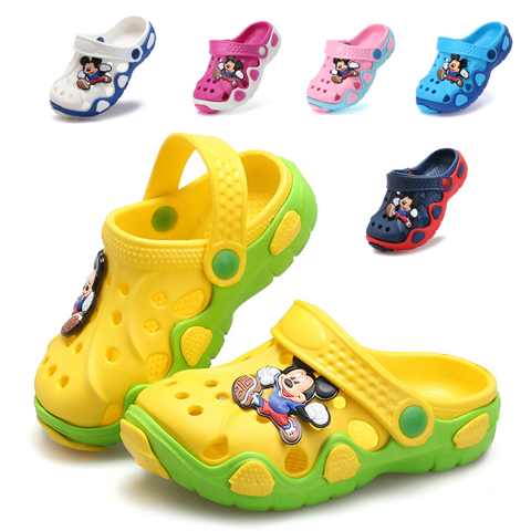 Summer New Cute Shoes Beach Cartoon Slippers Non-slip Boys Beach Sandals Girls Indoor And Outdoor Boy Leisure Shoes Size 22-30