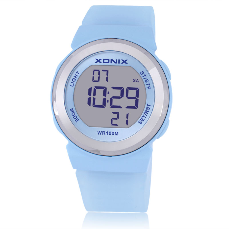 Hot XONIX Fashion Women Sports Watches Waterproof 100m Ladies Jelly LED Digital Watch Swimming Diving Hand