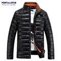 Puerto & Lotus Hombres Abrigo Ropa de Marca Chaquetas de Invierno de Los Hombres Pure Color Sólido Ocasional 034 Ropa ZJ8008