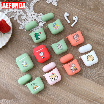 Cute Cartoon Pig Mouse Rabbit Cat Silicone Case For Airpods Wireless Earphone Box For Apple Air Pods 2 Charge Bag Love Heart