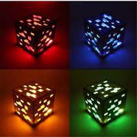 Minecraft Redstone Nacht Lampe Erz Blauen Stein diamant Platz Nacht lichter AA Batterie Netzteil Led Spielzeug Für Kinder Geschenk beleuchtung