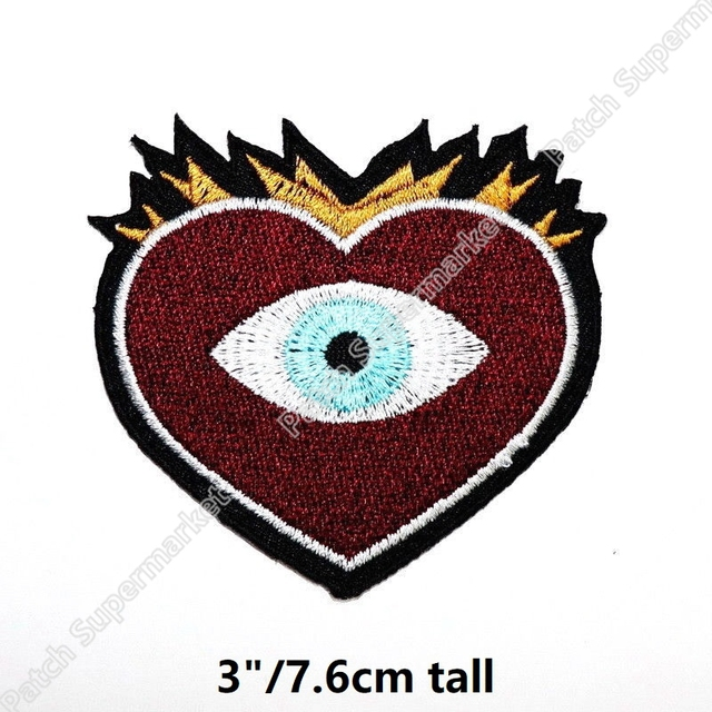 666683109b4 Scarlet witch gypsy Eye Hearts Black Magic patches Marvel Comics Movie  Embroidered Avengers Infinity Wa clothing TRANSFER