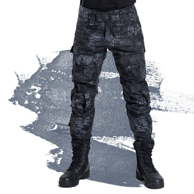 Free Shipping 2019 Men's Military Snake Camouflage Tactical Pants Pantalon Homme Army Pants Cargo Army Combat Trousers 70707