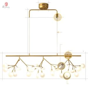 Image 5 - Firefly Pendant Lamp Olive Branch Hanging Lights Art Home Decorative LED Europe Style Petal AC110/220V Foyer Living Dinning Room