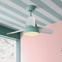 Ventilador de techo para dormitorio de estilo nórdico de 30 pulgadas  lámpara creativa de decoración para salón  cafetería