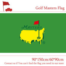 Free shipping Golf Masters Flag 3ftx5ft Banner Polyester Flag 90*150cm/60*90cm