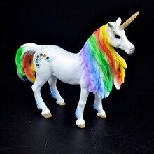 New Arrival 3 rodzaje bajki mityczne stworzenie tęczowa opaska jednorożec latający koń rysunek edukacyjne zabawki figurka dzieci prezent