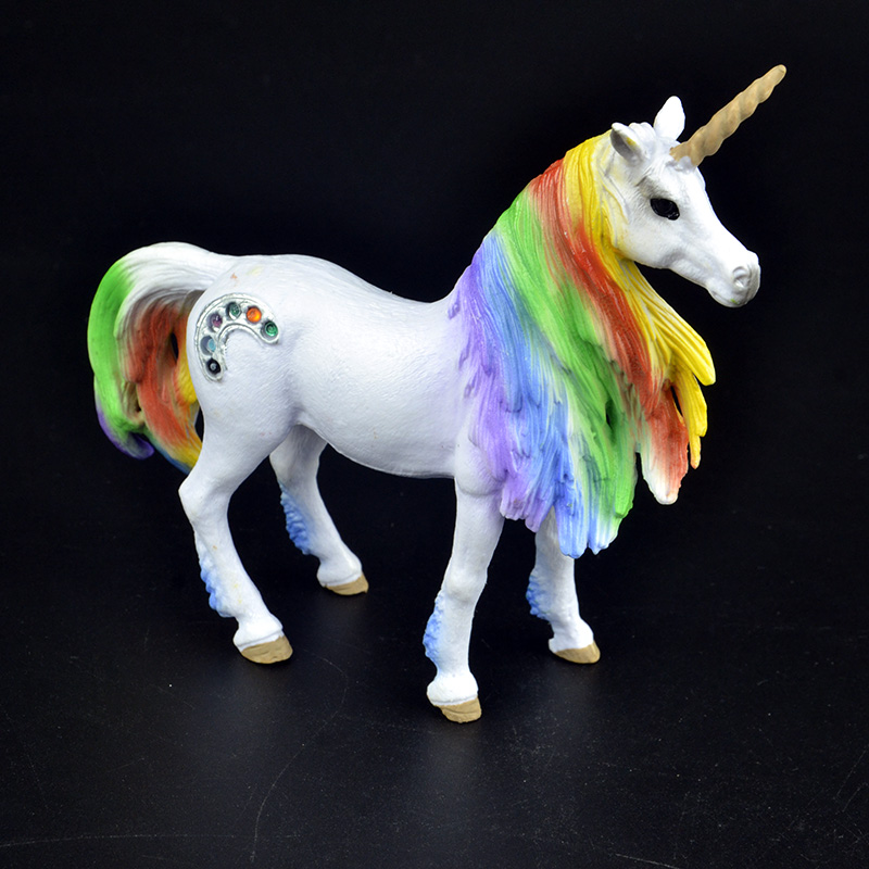 New Arrival 3 Types Fairy Tale Mythical Creature Rainbow Unicorn Flying Horse Figure Educational Toys Figurine Kids Gift