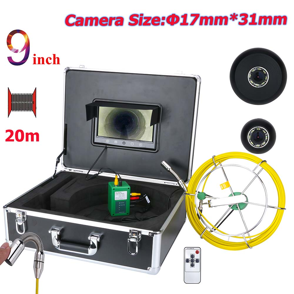 Video Surveillance Audacious 20m/30m/40m/50m 9 Inch 17mm Industrial Pipe Sewer Inspection Video Camera Ip68 Waterproof Drain Pipe Sewer Inspection Camera Cool In Summer And Warm In Winter Security & Protection