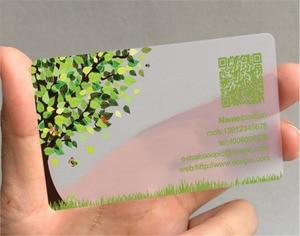 Image 4 - Personalized 200pcs/one design 85.5*54mm Wholesale Custom Printing Transparent Plastic Business PVC ID Cards