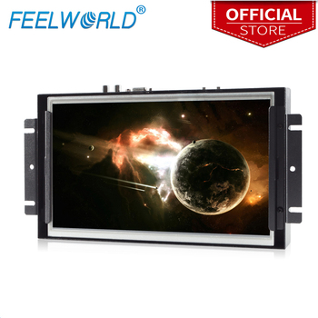 Feelworld P101-9AHT 10.1 Inch Touch Screen Monitor 1024x600 IPS Open Frame Monitor LCD Metal Panel Mount Industrial Monitor