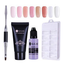 UR SUGAR 30 գ Poly Gel Finger Extension Crystal Jelly Polygel Nail Gel Camouflage UV LED Hard Gel Acrylic Builder Gel