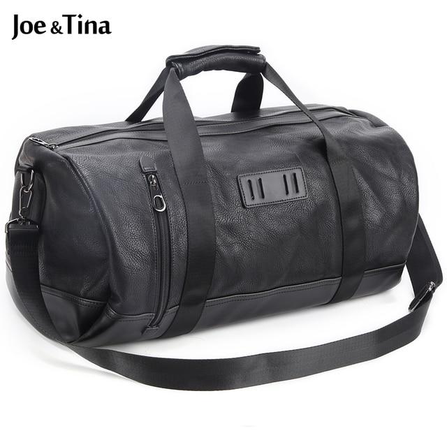Joe y Tina calidad de Hight de cuero de gran capacidad de bolsa de viaje ocasional hombro bolsa de mensajero de los hombres bolsas de viaje de Los Hombres bolsas